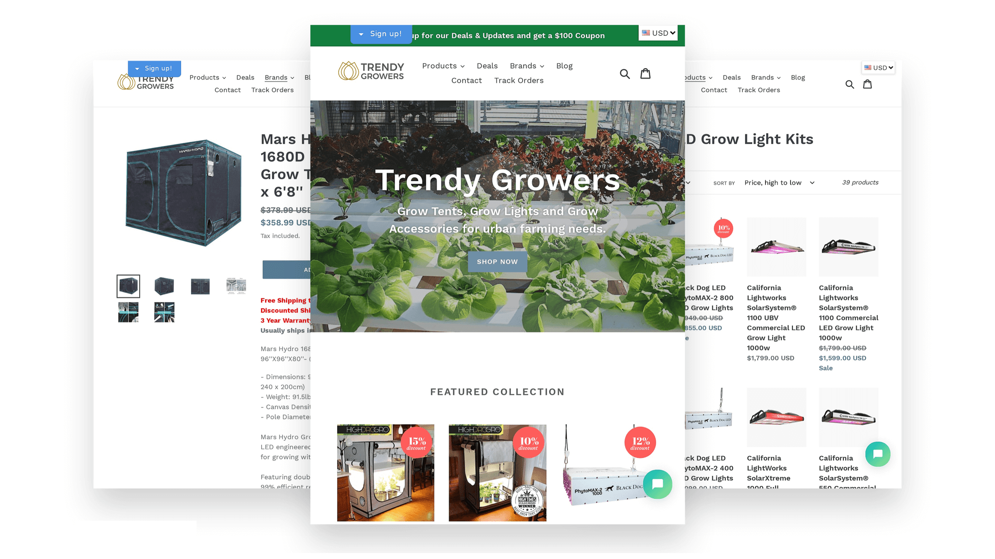 digital marketing casestudies trendygrower ecommerce website design
