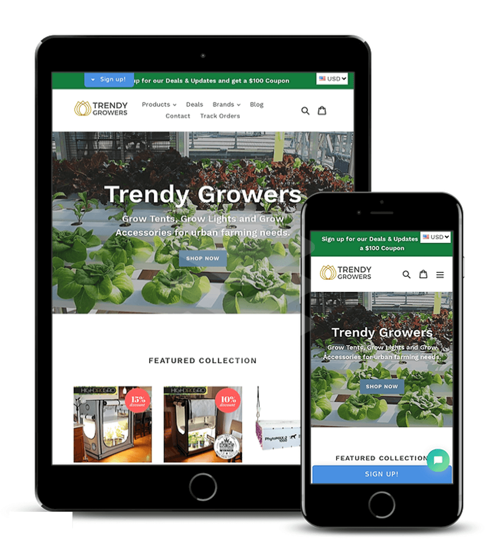 Trendygrower.com - ECommerce Website Development